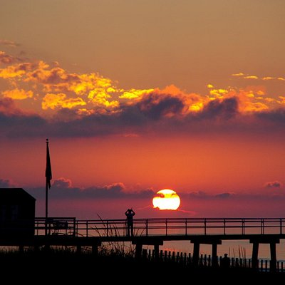Sunrise on the Ventnor Boardwalk.