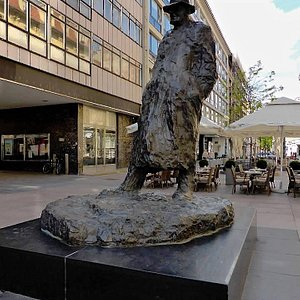 Statue of Tim Ujevic