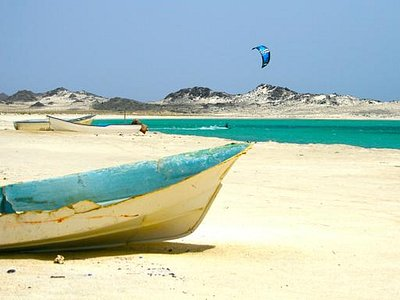 Kiting on Masirah Island