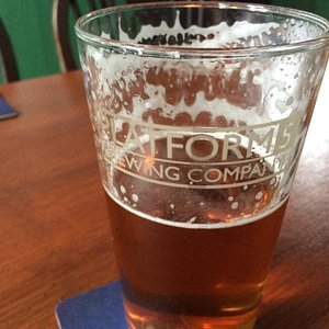 A pint of IPA brewed on the premises