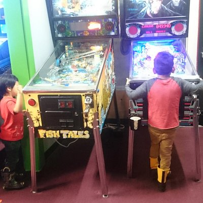 My 3 and 4 year old boys where absolutely in love with pinball machines.
