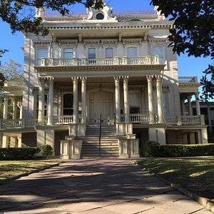 The Bradish Johnson House was built in 1872, designed by James Freret in the Second Empire style