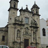 San Nicolas Church - in the pouring rain!
