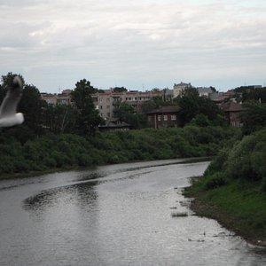 Вид на город с Красного моста