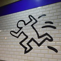 RET Beurs subway station - Keith Haring theme