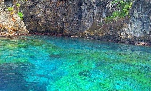 Exploring an amazing care at Toucari Bay