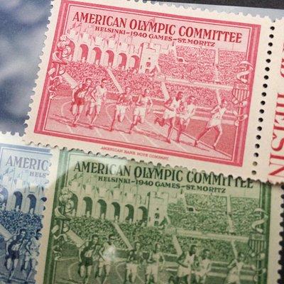 Original 1940 Olympic stamps