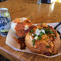 Chili in a bread bowl with a Telluride Brewing Co. Tempted IPA for lunch