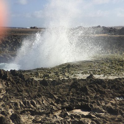 "Blowhole near  ""Boka Washikembe"""