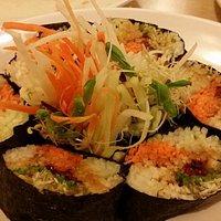 Vegetable sushi wrap