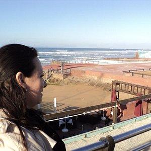 Uma bela visão do mar marroquino.