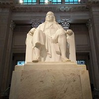 Ben Franklin National Memorial Statue in center of museum