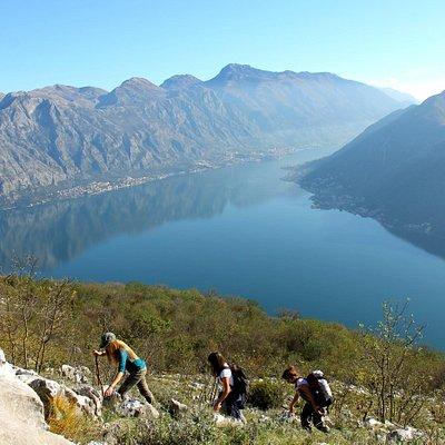 hiking above perast
