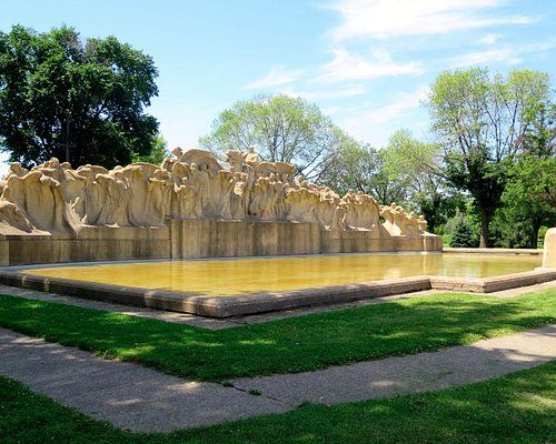 Lorado Taft's Fountain of Time, western end of the Midway Plaisance.