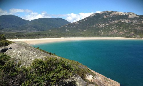 View from pillar point back to tidal river near Yanakie