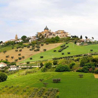 Veduta di Montepagano dalla collina