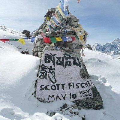 登山家Scott Fischerの墓碑