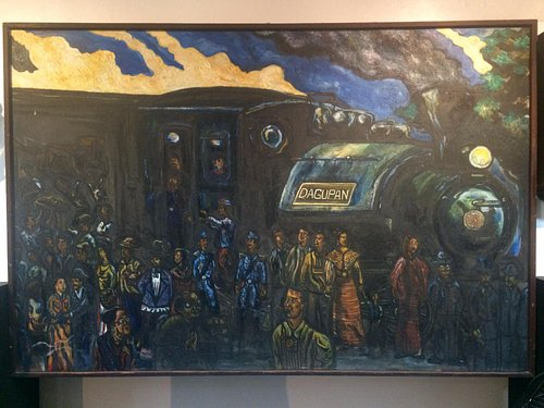 Painting of Rizal's journey to Dagupan in hopes of courting Kipping
