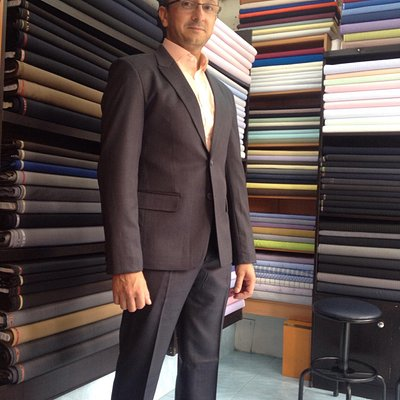 My happy costumer at Maruti Tailor