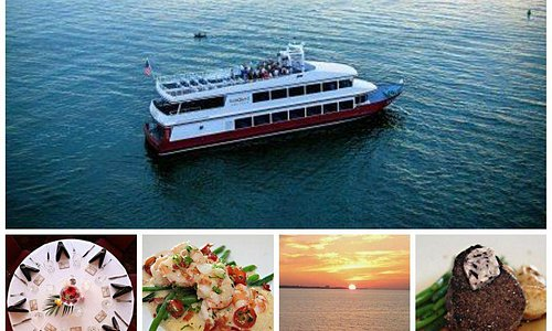 Chef-prepared meals while cruising into the sunset and dancing to live music