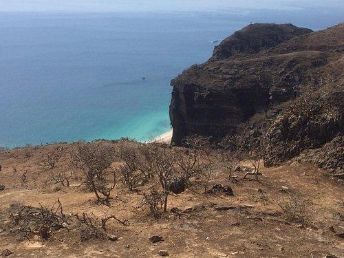 Al Fazayih Beach vista dall'alto