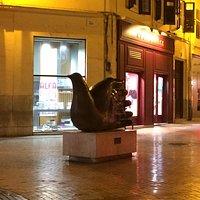Escultura a noite