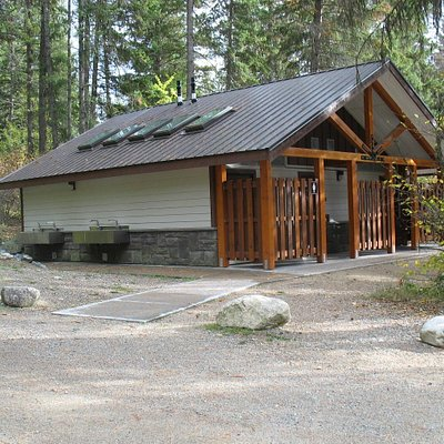 Shower House at Texas Creek Campground in Gladstone Provincial Park