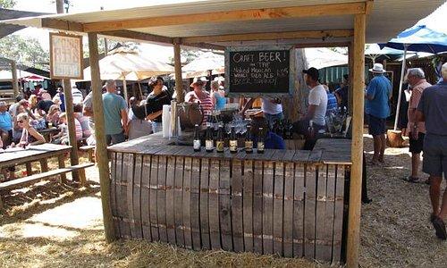 Lokales Bier im Angebot