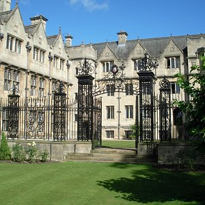 Gate into garden at Merton College