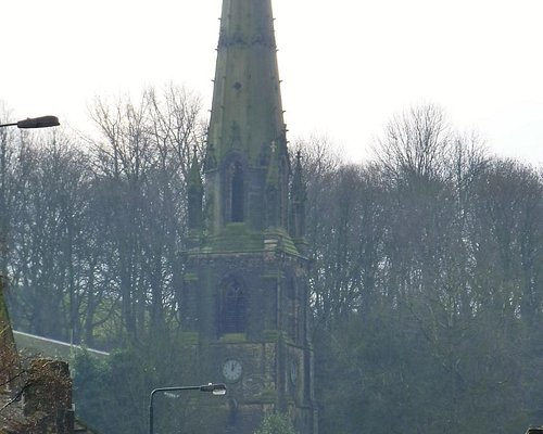 Todmorden Unitarian Church Steeple view from town centre