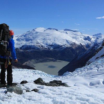 Vista desde el nunatak sector medio del glaciar.
