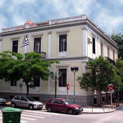 το εξωτερικό του Μουσείου του Μακεδονικού Αγώνα