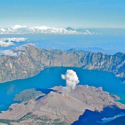 Lake and New volcano