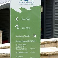 Starting the walk at Scenic World