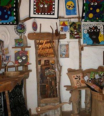 Inside The Mud Palace Gallery, Africa Village, Treasure Beach, Jamaica