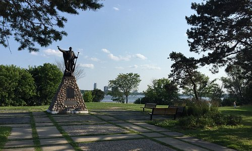 Father Brébeuf Monument in the Park in his honour along the Ottawa River