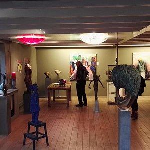 Het kleine gedeelte van galerie Peter Leen XL in Breukelen