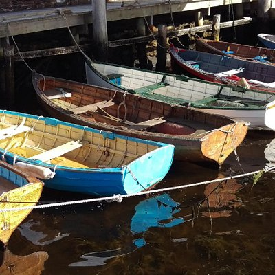 Dinghys in the sun