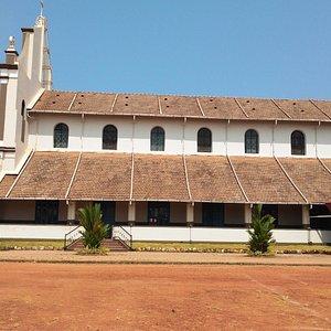 Tiled roof of Holy Cross Church, Cordel, Kulshekar