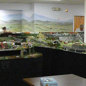 HO Scale Model Train Layout at Museum