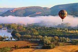 Early morning Ballooning over the Vredefort Dome