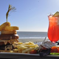 Fresh Island Homemade Burgers with seaview
