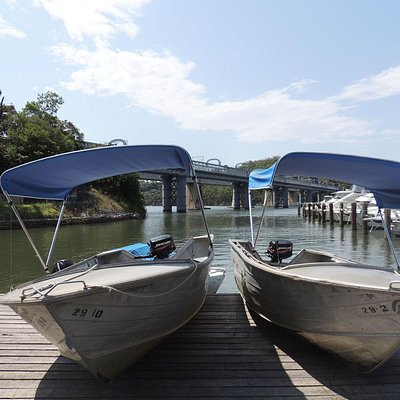 Canopy boats, great for fishing and cruising
