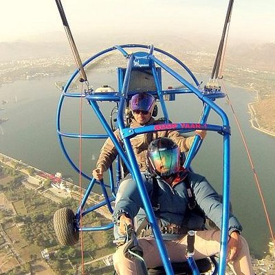 powered parachute joy ride is one of the best way to view the udaipur from 1000 feet height.