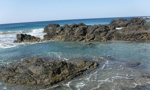 Great tidal pools at high tide