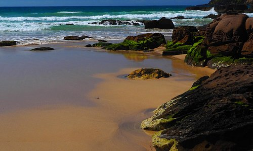 Golden sands on Pambula Beach