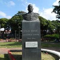 This is the bust of the first black governor of Guadeloupe.