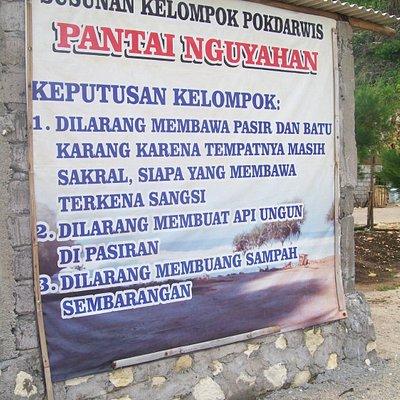 papan peringatan - Pantai Nguyahan Gunung Kidul - Feb 2016