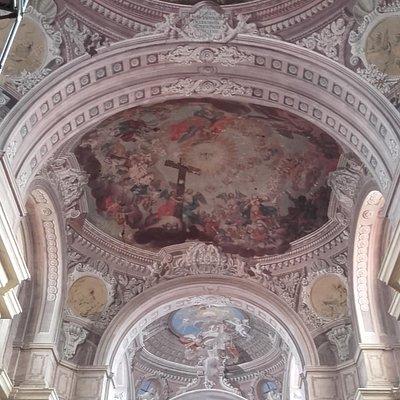 Ceiling inside church