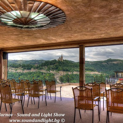 The panoramic terrace - the best place to view the show from.